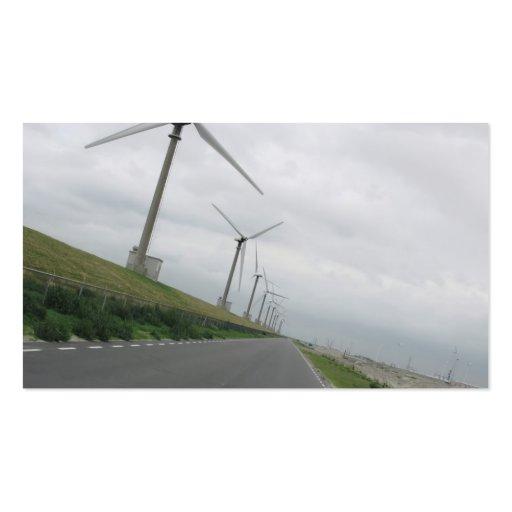 Tarjeta de la foto del camino de las turbinas de tarjetas de visita