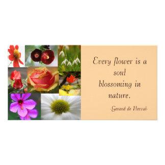 Tarjeta de la foto del collage de la flor tarjetas fotográficas