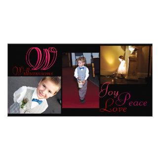 Tarjeta de la foto del collage del amor de la paz  tarjeta fotografica personalizada