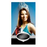 Tarjeta de la foto del concurso de belleza de la d plantilla de tarjeta de negocio