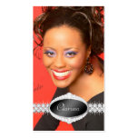 Tarjeta de la foto del concurso de belleza de la d tarjetas de visita