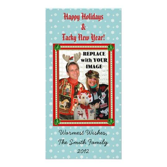 Tarjeta de la foto del copo de nieve del tarjetas fotograficas personalizadas
