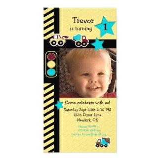 Tarjeta de la foto del cumpleaños de la tarjetas personales con fotos