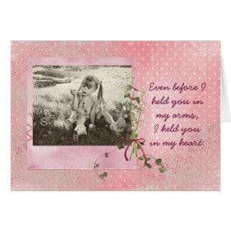 Tarjeta de la foto del cumpleaños para la hija