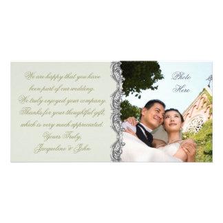 Tarjeta de la foto del ~ del boda tarjetas fotográficas