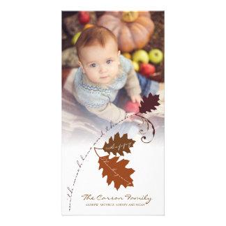 Tarjeta de la foto del Día de Acción de Gracias de Tarjetas Con Fotos Personalizadas