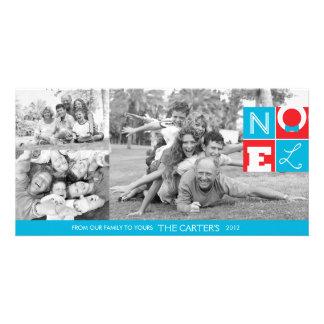 Tarjeta de la foto del día de fiesta 4x8 de NOEL Tarjeta Fotográfica Personalizada