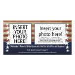 tarjeta de la foto del día de fiesta con un tema p tarjetas fotograficas