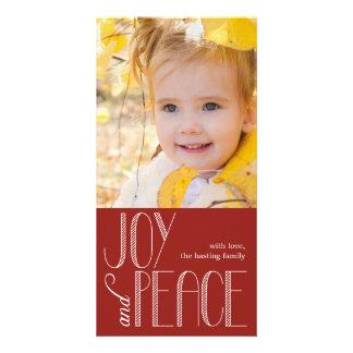 Tarjeta de la foto del día de fiesta de la alegría plantilla para tarjeta de foto