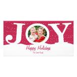 Tarjeta de la foto del día de fiesta de la alegría tarjeta con foto personalizada