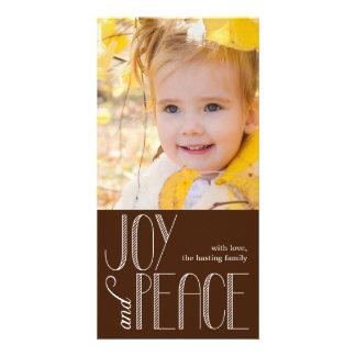 Tarjeta de la foto del día de fiesta de la alegría tarjeta fotográfica