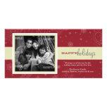 Tarjeta de la foto del día de fiesta de la cinta d tarjeta fotográfica