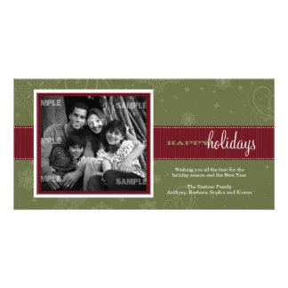 Tarjeta de la foto del día de fiesta de la cinta d tarjetas con fotos personalizadas