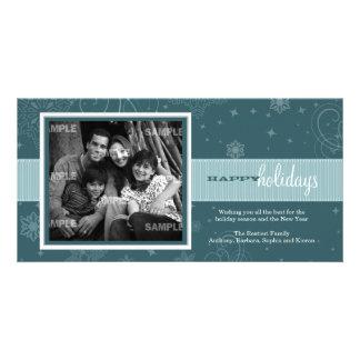Tarjeta de la foto del día de fiesta de la cinta d plantilla para tarjeta de foto
