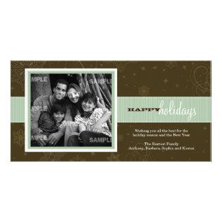 Tarjeta de la foto del día de fiesta de la cinta d tarjeta personal con foto