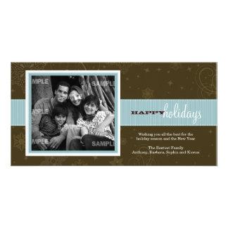 Tarjeta de la foto del día de fiesta de la cinta d tarjeta fotografica personalizada