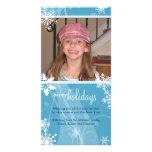 Tarjeta de la foto del día de fiesta de la nieve d tarjetas personales