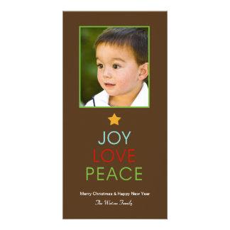 Tarjeta de la foto del día de fiesta de la paz del tarjeta fotográfica