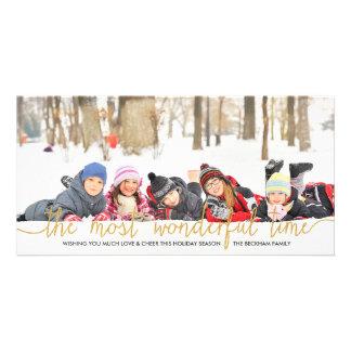 Tarjeta de la foto del día de fiesta de la tarjetas personales
