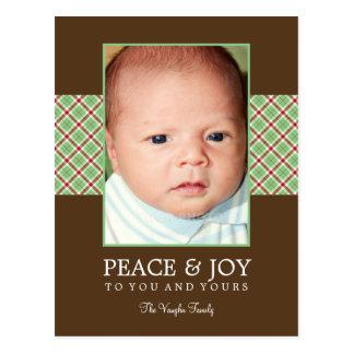 Tarjeta de la foto del día de fiesta de la tela es tarjetas postales