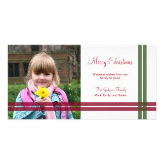 Tarjeta de la foto del día de fiesta de las cintas tarjetas fotograficas