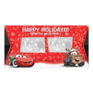 Tarjeta de la foto del día de fiesta de los coches tarjeta fotografica