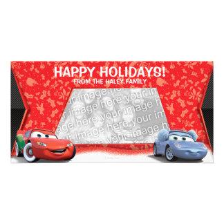 Tarjeta de la foto del día de fiesta de los coches tarjeta fotografica personalizada