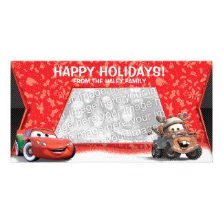 Tarjeta de la foto del día de fiesta de los coches tarjetas personales