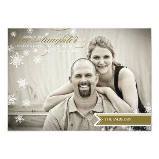 Tarjeta de la foto del día de fiesta de los deseos comunicados personalizados