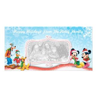 Tarjeta de la foto del día de fiesta de Mickey y Tarjetas Fotográficas Personalizadas
