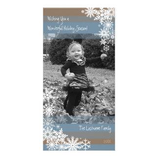 Tarjeta de la foto del día de fiesta: ¡Dejáis le Tarjetas Fotograficas Personalizadas