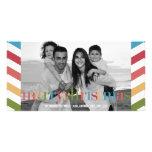 Tarjeta de la foto del día de fiesta del ARCO IRIS Tarjetas Personales