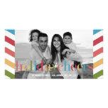 Tarjeta de la foto del día de fiesta del ARCO IRIS Tarjeta Personal Con Foto