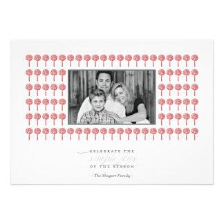 Tarjeta de la foto del día de fiesta del modelo de comunicado personalizado