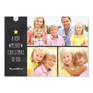 Tarjeta de la foto del día de fiesta del navidad comunicados personalizados