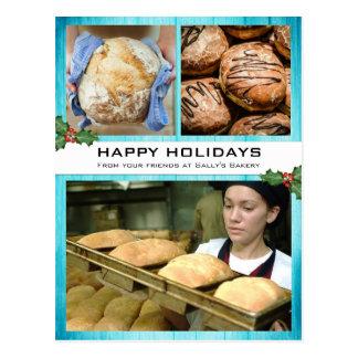 Tarjeta de la foto del día de fiesta del navidad postales