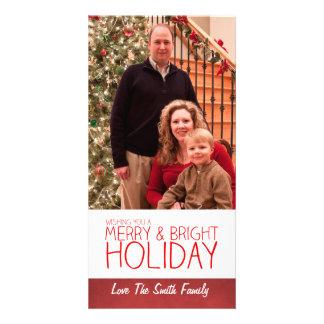 Tarjeta de la foto del día de fiesta del navidad tarjeta fotográfica