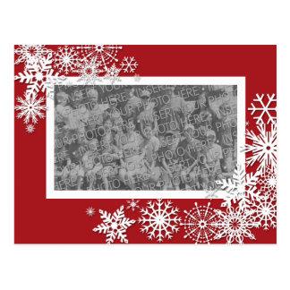 Tarjeta de la foto del día de fiesta del navidad postal