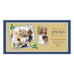 Tarjeta de la foto del día de fiesta del trío de l tarjetas fotograficas personalizadas
