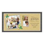 Tarjeta de la foto del día de fiesta del trío de l tarjetas personales