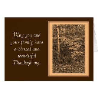 Tarjeta de la foto del día de la acción de gracias
