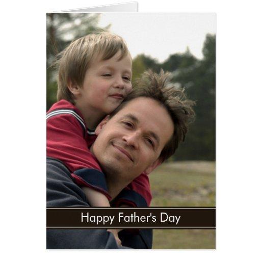 Tarjeta de la foto del día de padre