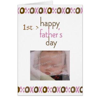 Tarjeta de la foto del día de padre 1ra