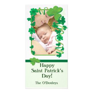 Tarjeta de la foto del día de Patty del santo Tarjeta Personal Con Foto