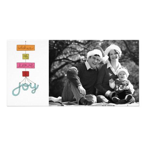 tarjeta de la foto del doodle de las Felices Navid Tarjeta Fotográfica Personalizada