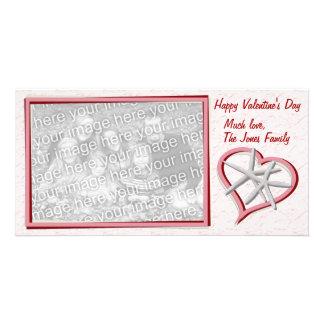 Tarjeta de la foto del el día de San Valentín de l Tarjeta Fotográfica Personalizada