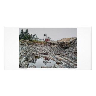 Tarjeta de la foto del faro del punto de Pemaquid Tarjetas Fotograficas