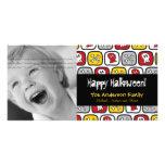 Tarjeta de la foto del feliz Halloween de los hues Tarjetas Fotográficas Personalizadas