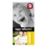 Tarjeta de la foto del feliz Halloween de los hues Tarjeta Personal Con Foto