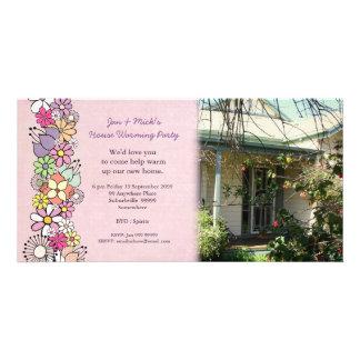 Tarjeta de la foto del fiesta de la nueva casa que tarjetas fotograficas